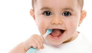 Brush the baby teeth with soft bristled toothbrush