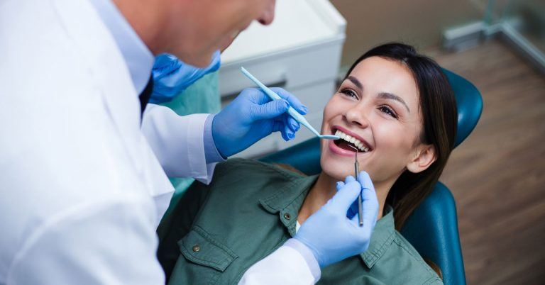 women enjoying dental treatment