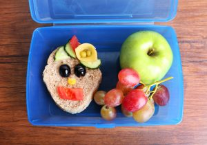 Lunchbox with creative Sandwich
