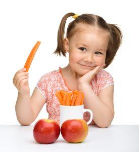 Kid eats Carrot
