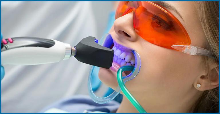 dentist whitening patients teeth